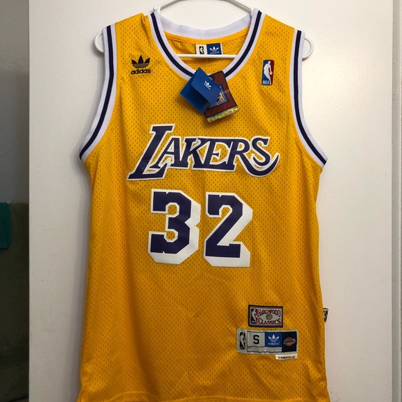 free shipping 5180c 34ed0 Lakers Jersey Johnson #32 New NWT